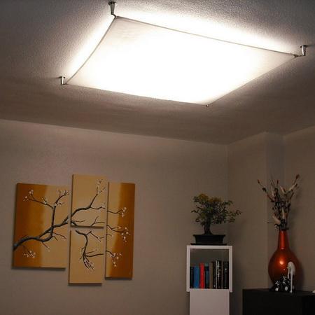 Светильник потолочный из ткани